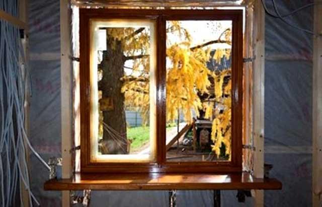 деревянный оконный бдок