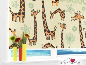 рулонные шторы с детским рисунком Жирафики