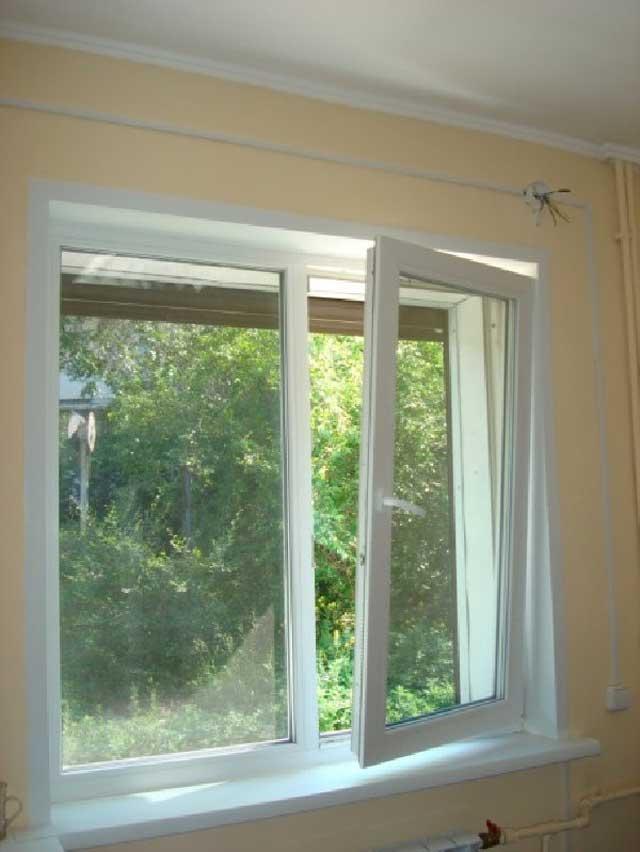 Какой может быть створка окна на балконе