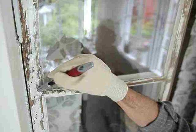 подготовка к покраске окна