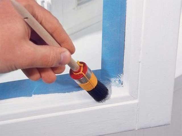 для чего нужен малярный скотч при покраске окна