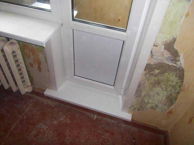 порог на балкон из подоконника